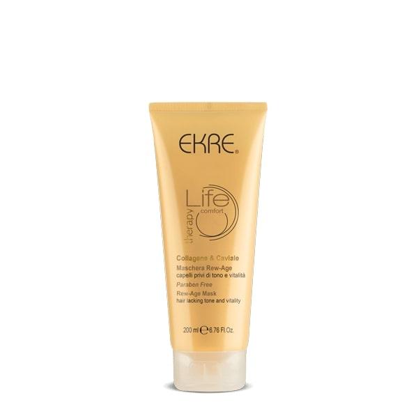 EKRE LIFE REW - AGE MASK - Μάσκα αντιγήρανσης της τρίχας με Χαβιάρι και Κολλαγόνο 200ml